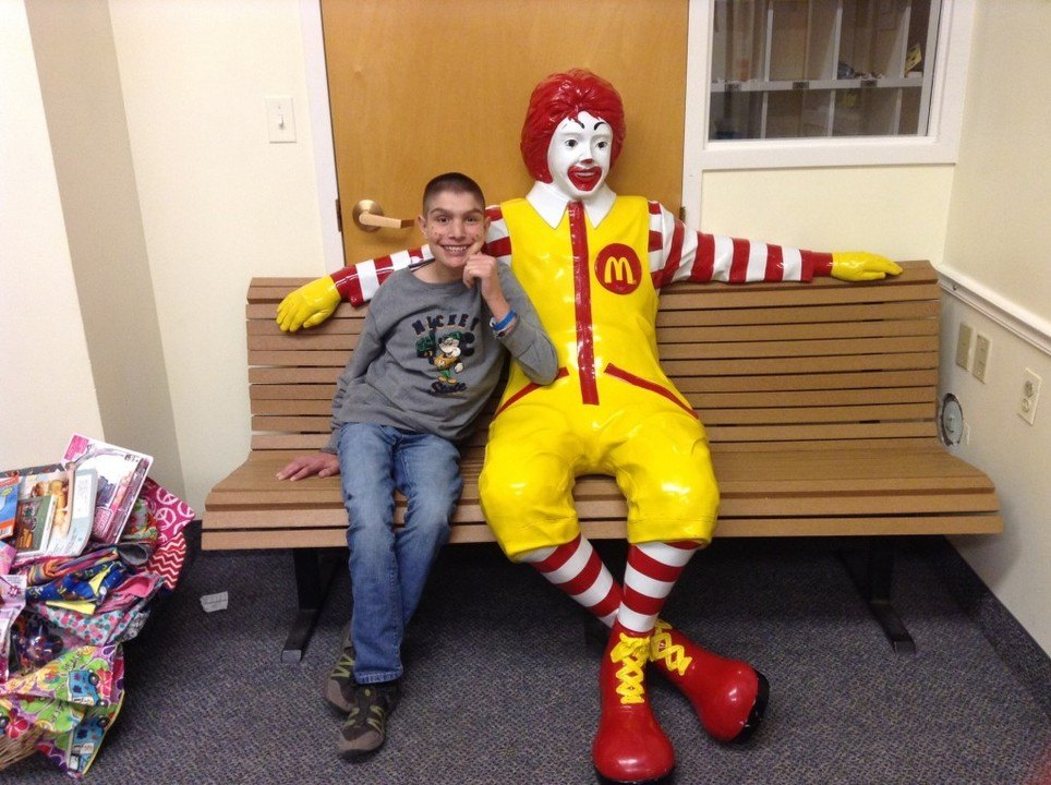 Max at Ronald McDonald House