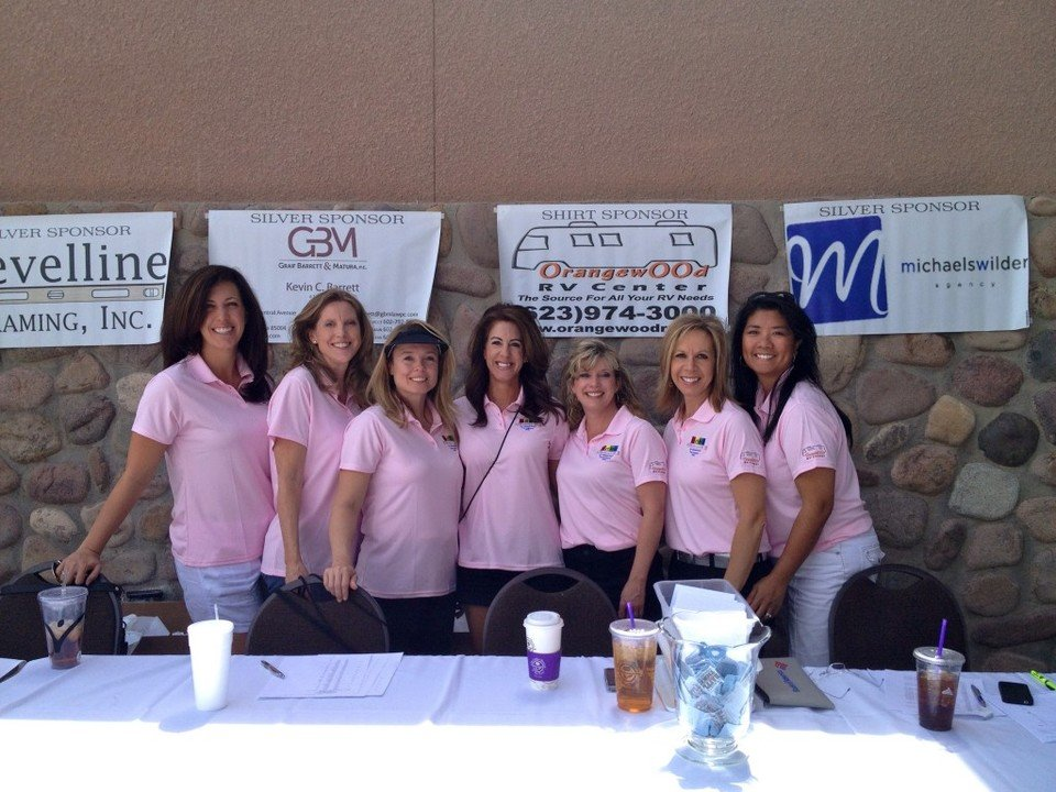 1st Annual Golf tournament: Registration table